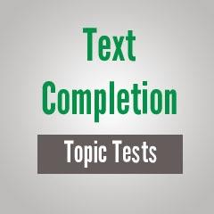 GRE Text Completion sample questions