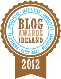 Shortlisted for Blog Awards Ireland 2012