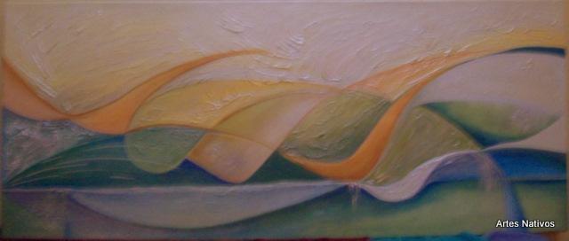 Abstracto con texturas, original de 120 x 50 (cabecera de cama)