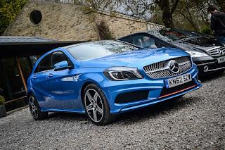 Blue Mercedes Benz A Class