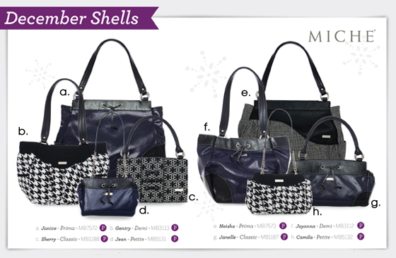 Shop all the Miche December 2011 Shells