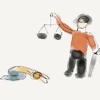Kotau vor Justitia
