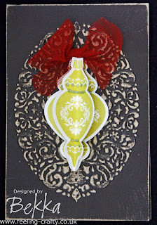 Vintage Ornament Keepsakes Christmas Card by Bekka www.feeling-crafty.co.uk