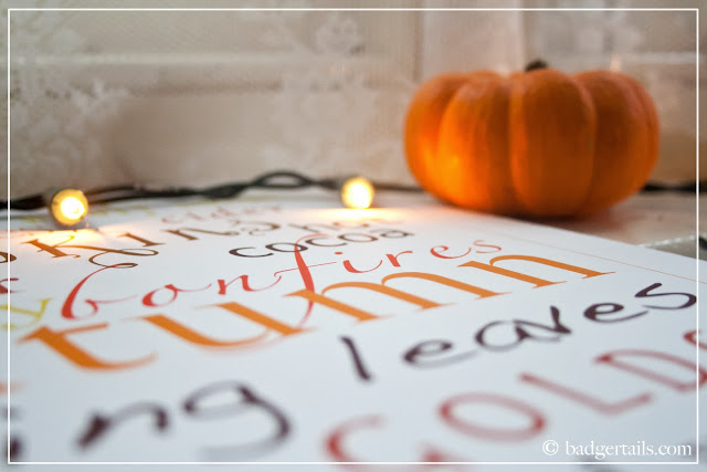 homemade decorative sign word posters autumn pumpkin