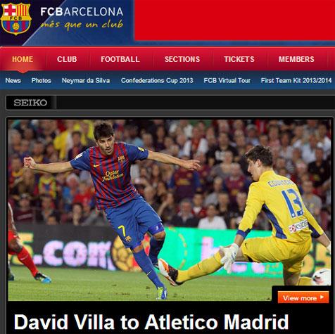 Bursa Transfer David Villa Resmi Milik Atletico Madrid