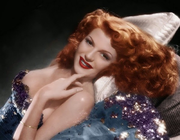 Rita Hayworth via Lexi DeRock of Voluptuous Vintage Vixen Blog