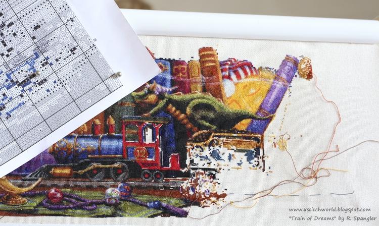 Вышивка поезд мечты схема 15