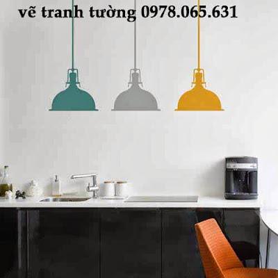 vẽ tranh tường phòng bếp