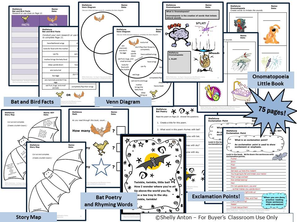 Asaiutui Free Stellaluna Activities and Printables – Stellaluna Worksheets