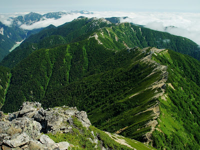 A mountain ridge in Japan