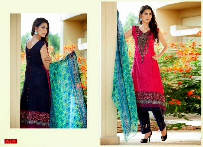 Two Color Summer Dress Lawn Collection