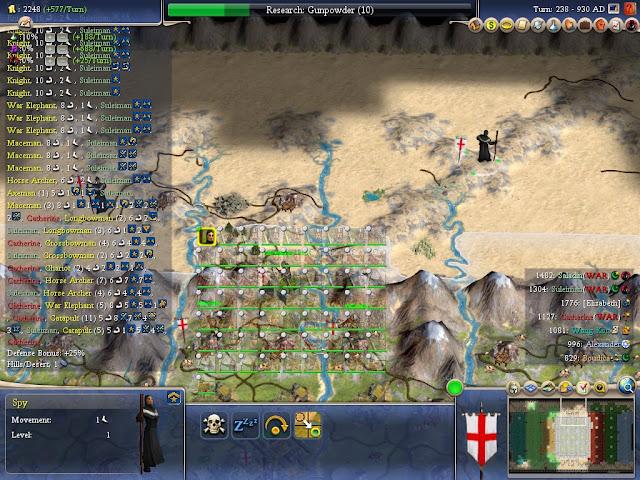 Civilization 4 - Approaching Army Screenshot