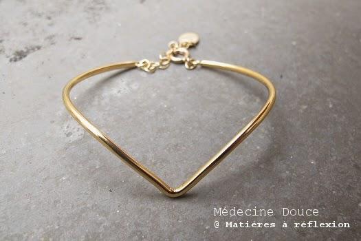 Bracelet jonc Médecine Douce Bijoux doré