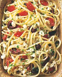 Http Www Food Com Recipe Pasta With Tomatoes Black Olives And Capers