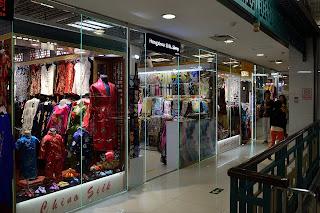 Remodeled shops at the Silk Market in Beijing
