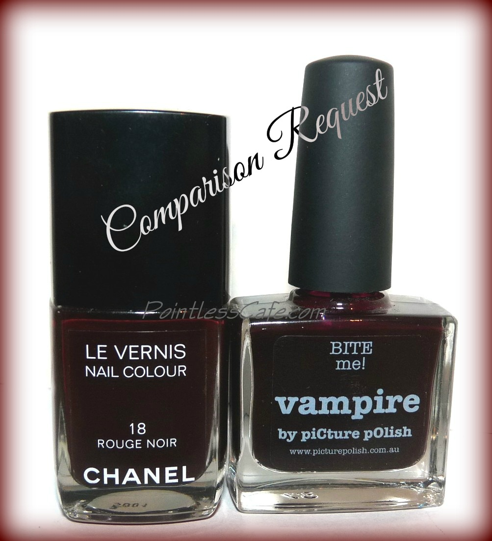 comparison request chanel rouge noir vs picture polish. Black Bedroom Furniture Sets. Home Design Ideas