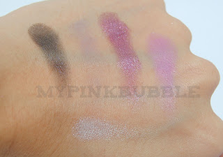 ELF Paleta de maquillaje happy hour swatch 2