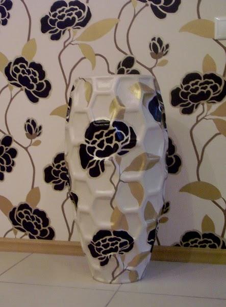 роспись вазы под обои