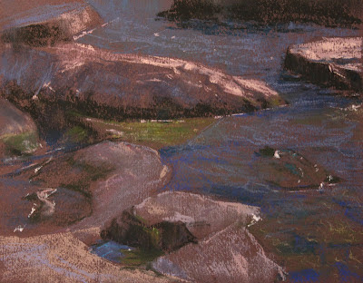 pixar, plein air, pastels, rocks
