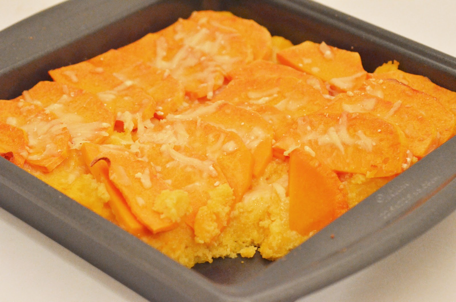 Navy Blue Kitchen: Butternut Squash- Polenta Gratin