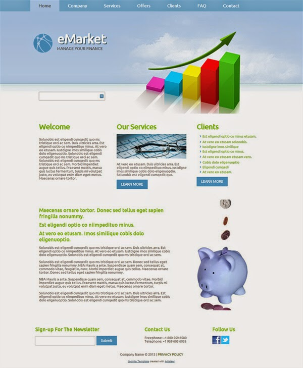 eMarket - Free Joomla! Template