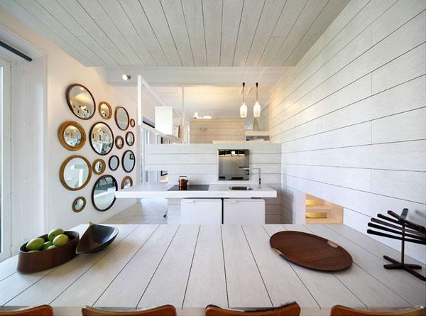 Unlimited space 60 m de tico en madrid ceramic house - Muebles de obra para salon ...