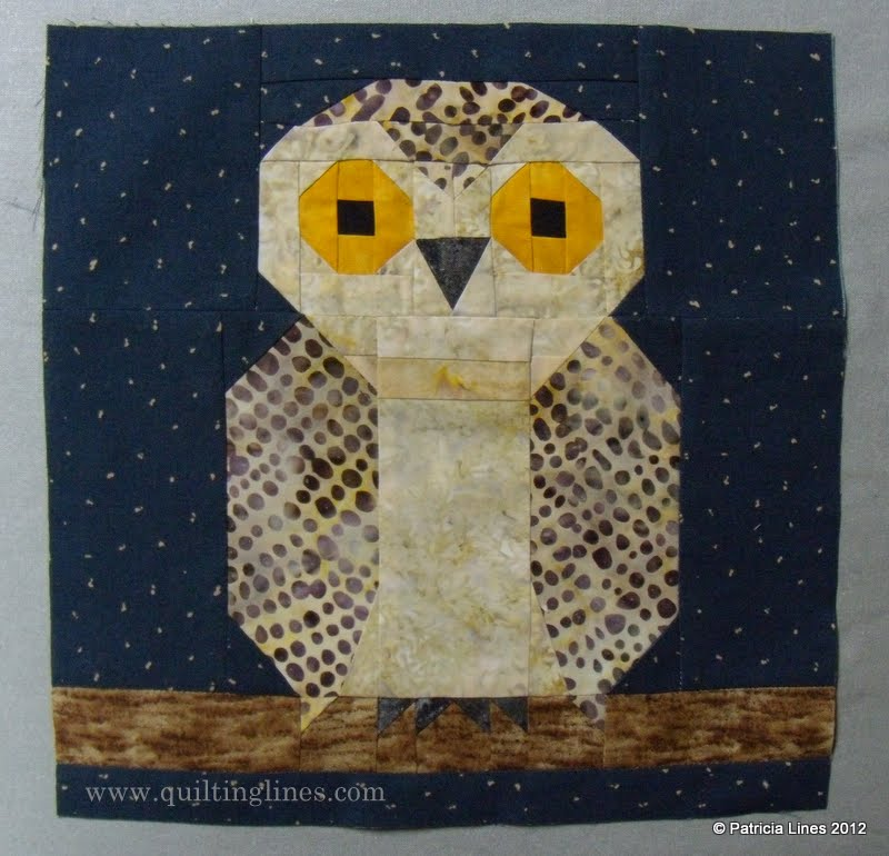 Free Quilt Pattern For Owls : Quilting Lines: Free Patterns