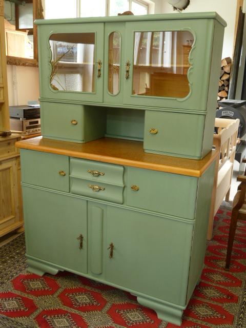 Antike mobel 50er jahre kuchenschrank mit kreidefarbe im for Küchenschrank 50er
