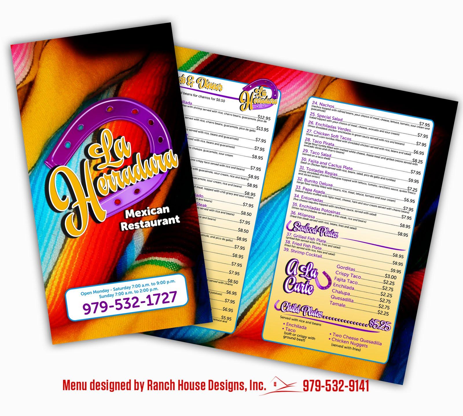 ranch house designs blog la herradura restaurant menu designs