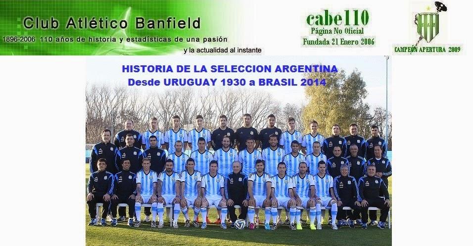 Historia de la SELECCION ARGENTINA