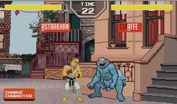Sesame Street Fighter Game