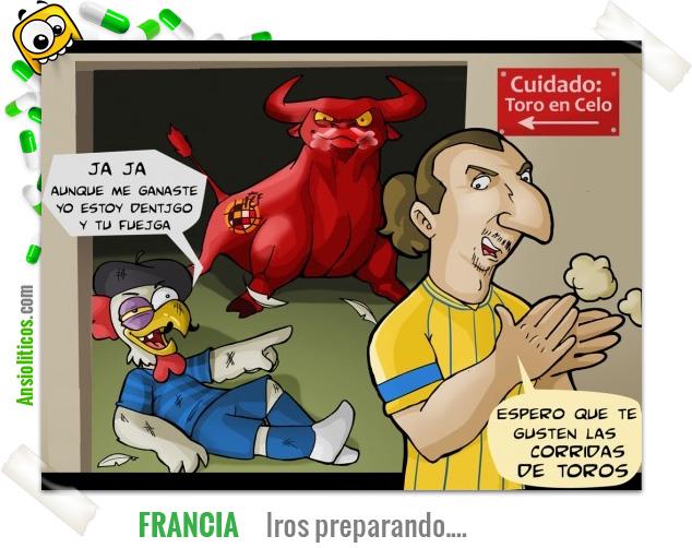 Chiste Eurocopa: Francia prepárate para España