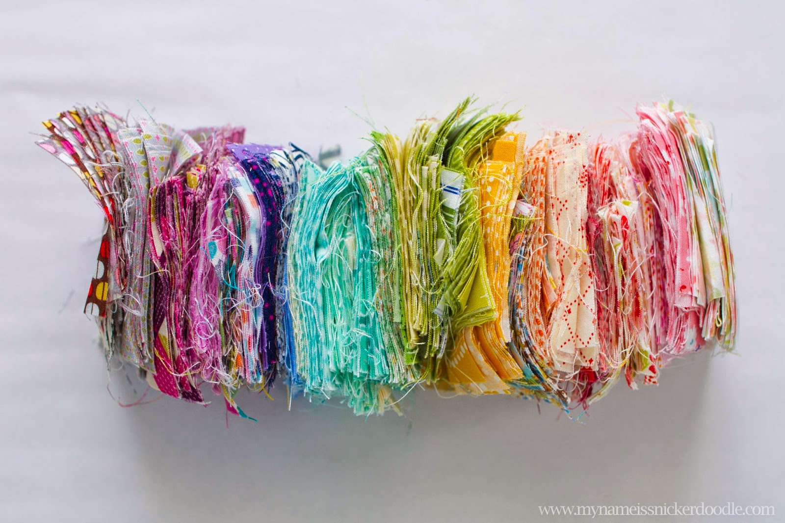 Lucious fabrics in rainbow colors | My Name Is Snickerdoodle