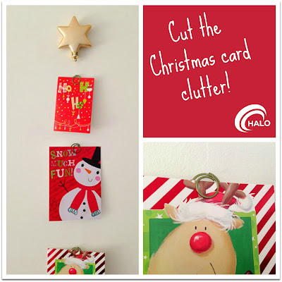 christmas organising, christmas cards, how to display cards, christmas clutter, christmas card display