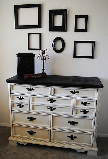 design gal her handyman black and white dresser. Black Bedroom Furniture Sets. Home Design Ideas