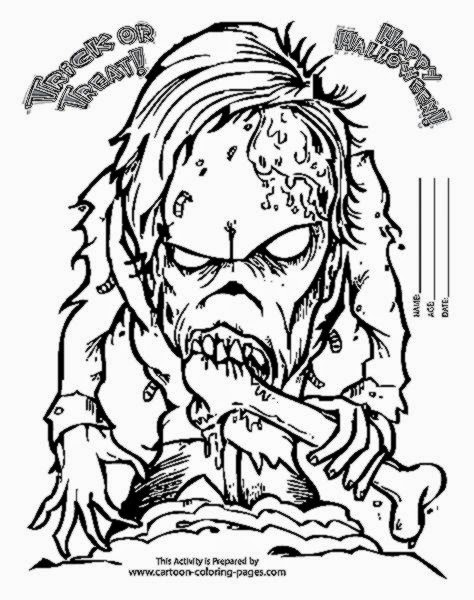 Gallery For gt Halloween Coloring Pages Teens