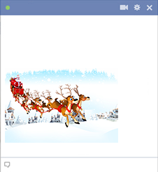 Flying reindeer Christmas emoticon