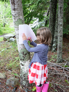 child in the forest drawing