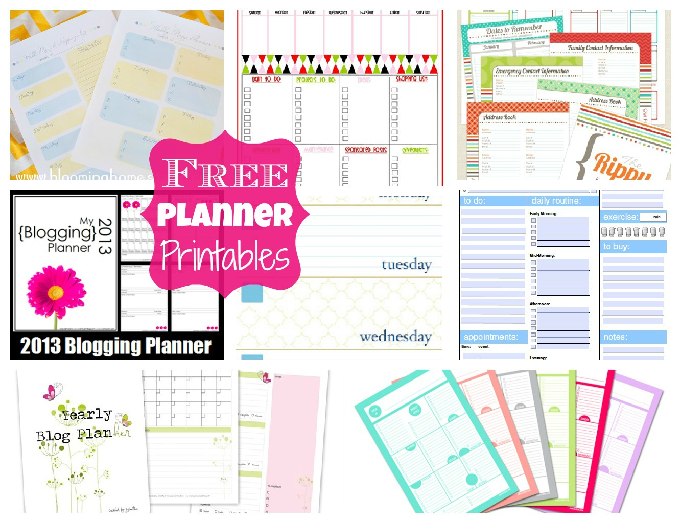 Free Planner Printables Happy Go Lucky