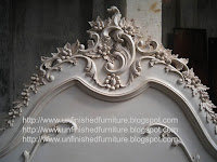 French Bed mahogany white painted made in indonesia