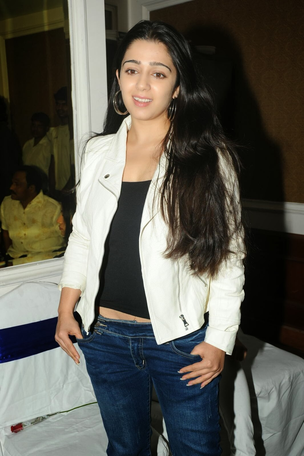 Actress Charmi Kaur Pictures in Jeans at One by Two Movie Celetes 20 Years Event  0089.jpg