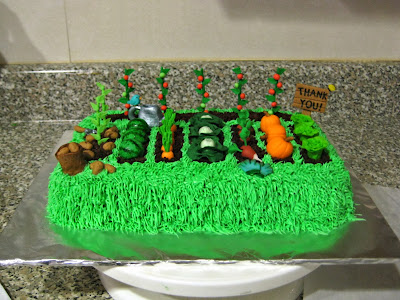 Teacher Appreciation Garden Cake 3