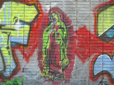 Painting of the Virgin of Guadalupe in Southwest Detroit