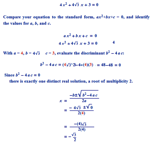 how to find roots of quadratic equation of degree 3