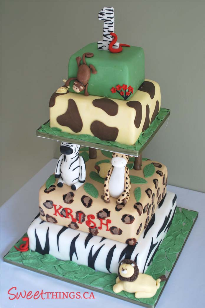 Jungle Birthday on Pinterest 1st Birthday Cakes, Jungle ...