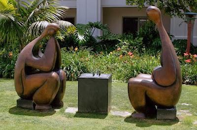 Escultura de ajedrez