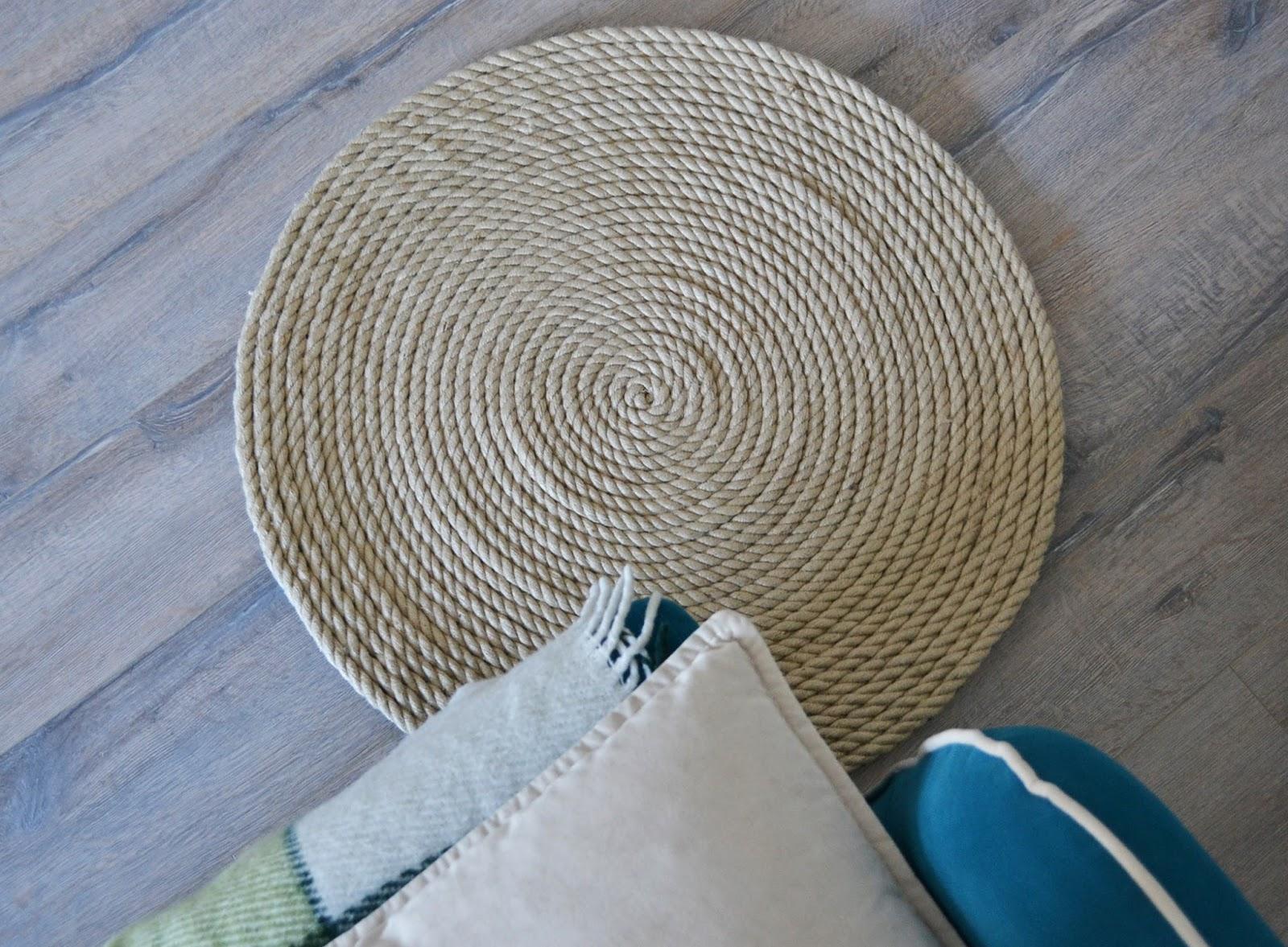 Мастер-класс коврики из веревки коврики из веревки Pinterest