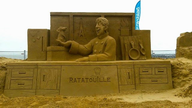 Ratatouille Disney Sand Sculpture