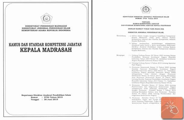 Kamus dan Standar Kompetensi Jabatan Kepala Madrasah