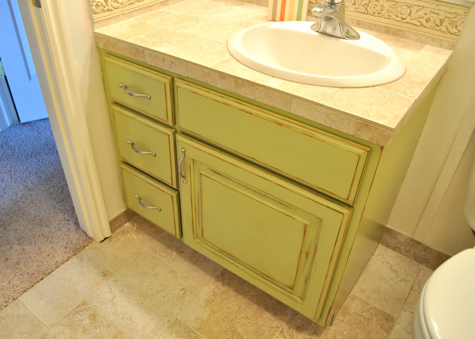 Sassy sanctuary bathroom cabinet before and after Paint bathroom cabinets